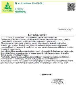 Grassland Farms - referencje - Iglaczek